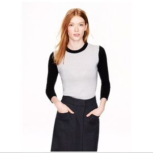 J. CREW Colorblock crewneck sweater style 08241 M